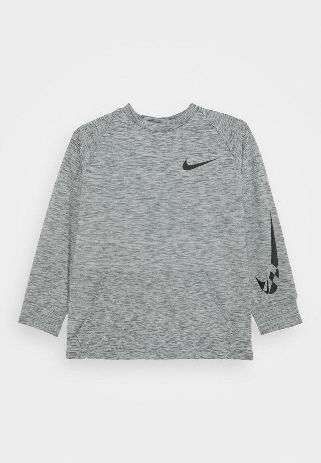 COMFORT - Fleece jumper - smoke grey/black