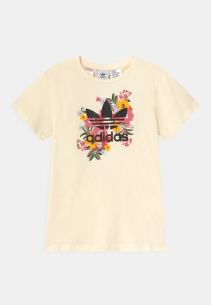 FLORAL TREFOIL  - T-shirt z nadrukiem - cream white/multicolor/black