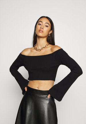 HANNA SCHÖNBERG  X NA-KD - Long sleeved top - black
