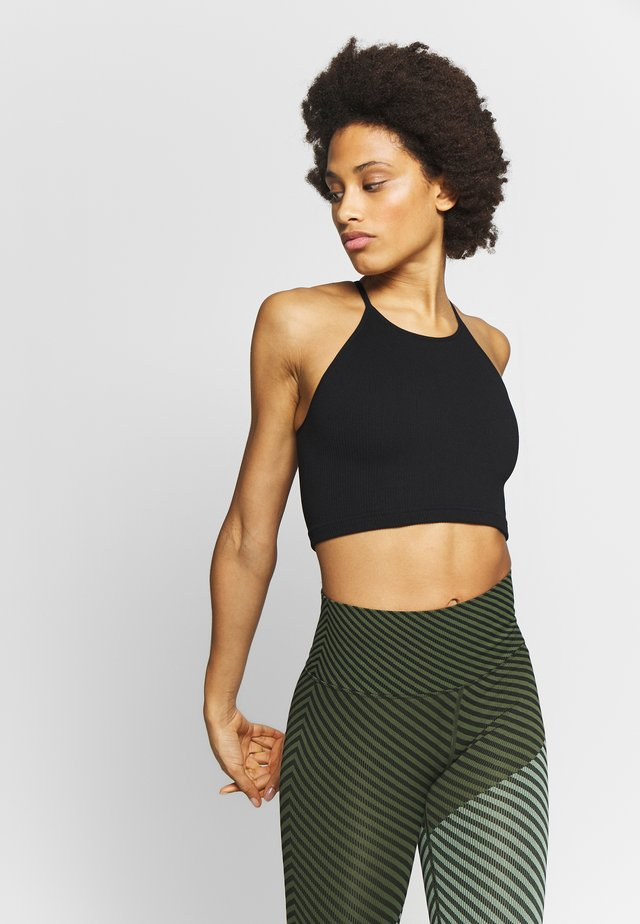 CROPPED RUN TANK - Top - black