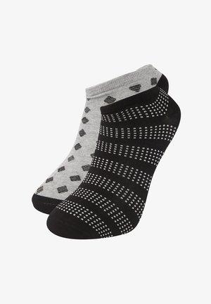2 PACK - Trainer socks - black/light grey