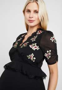 Hope & Ivy Maternity - EMBROIDERED MIDI DRESS - Day dress - black - 3