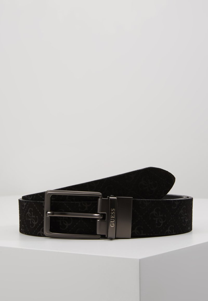 Guess - REVERSIBLE AND ADJUSTABLE BELT - Belt - black
