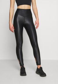 Good American - LIQUID CROSSOVER LEGGING - Leggings - black - 2