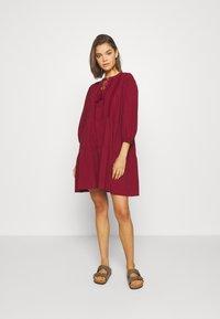Vero Moda - VMMUSTHAVE BOHO 3/4 TUNIC  - Day dress - red - 0