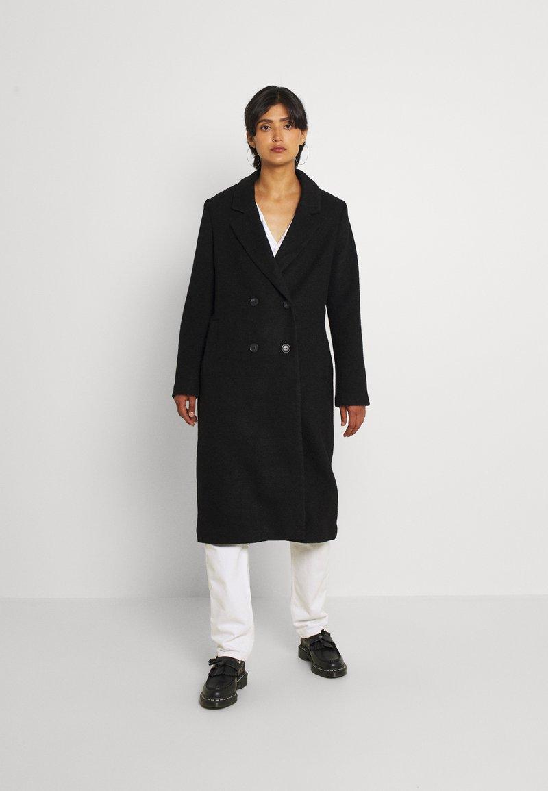 Monki - Classic coat - black