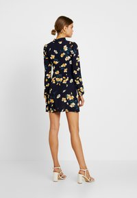Missguided - OPEN FRONT MINI DRESS - Day dress - navy - 3