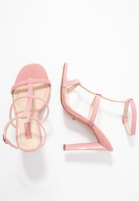 Topshop Wide Fit - WIDE FIT RIVER STRAPPY BLOCK - High heeled sandals - nude - 3
