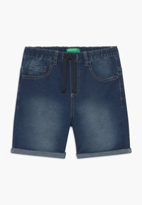 Benetton - BERMUDA - Denim shorts - blue denim - 0
