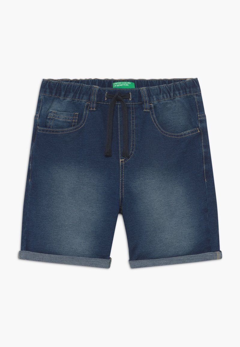 Benetton - BERMUDA - Denim shorts - blue denim