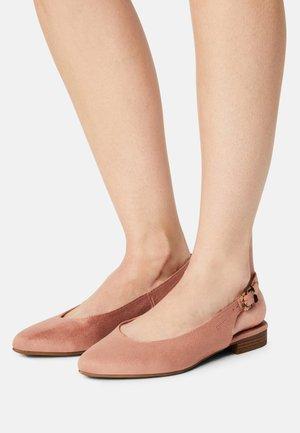 SANA - Slingback ballet pumps - old pink