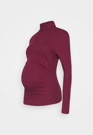 Long sleeved top - dark red