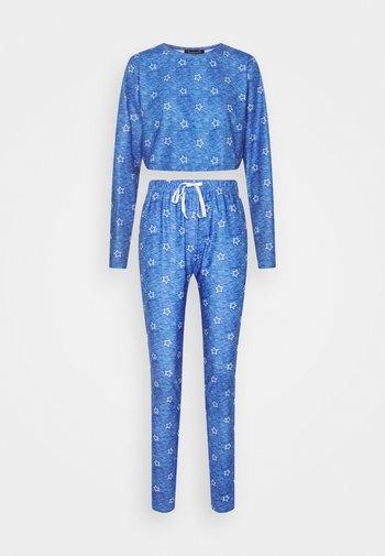 STAR CROPPED LONG SLEEVE WITH LEGGINGS - Pijama - blue