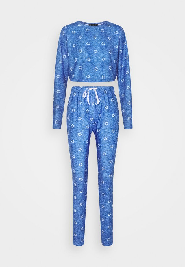 STAR CROPPED LONG SLEEVE WITH LEGGINGS - Pyjamas - blue