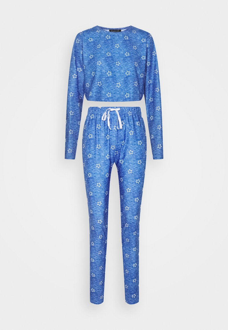 Loungeable - STAR CROPPED LONG SLEEVE WITH LEGGINGS - Pyjamas - blue