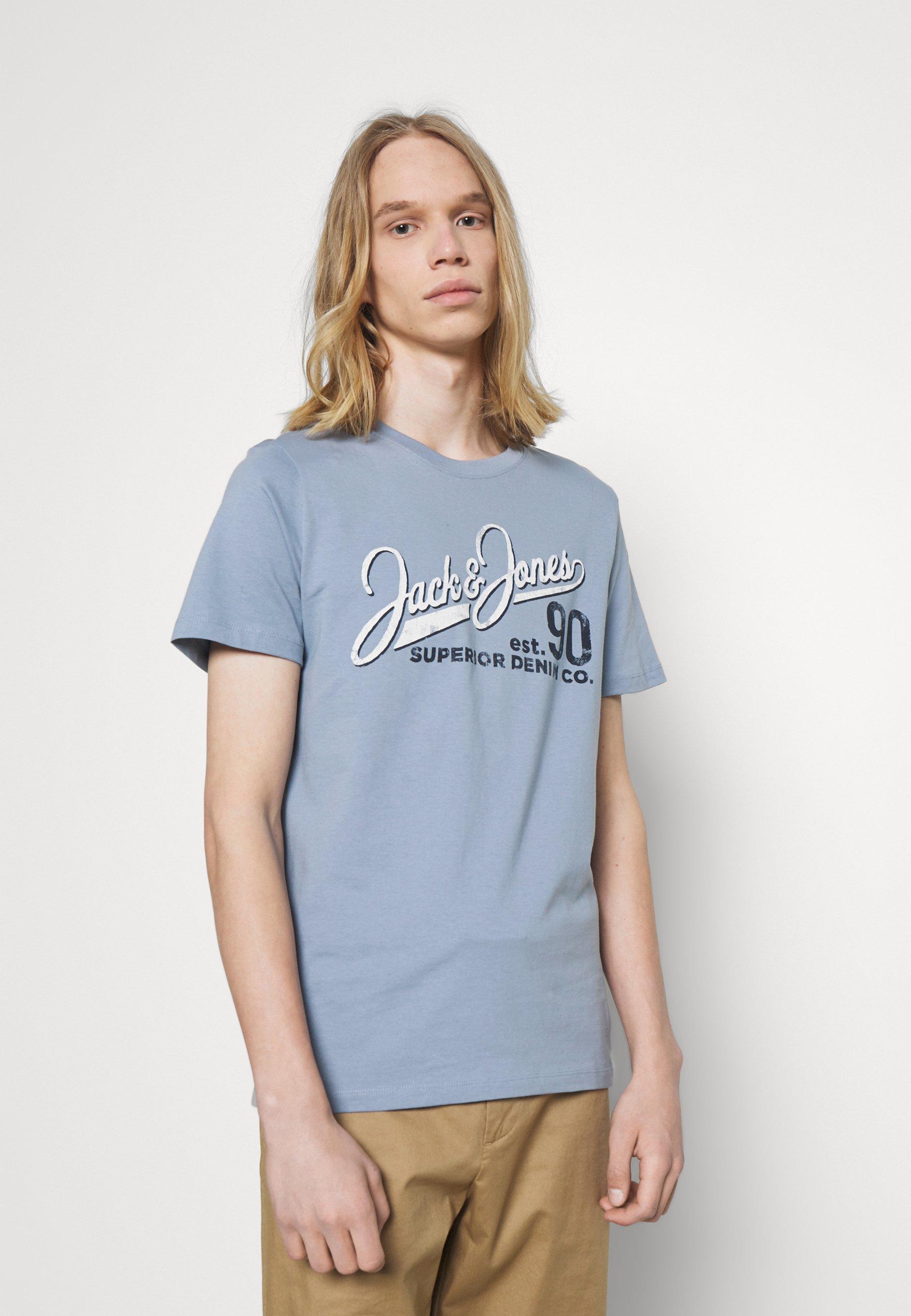 Men JJELOGO TEE O NECK - Print T-shirt