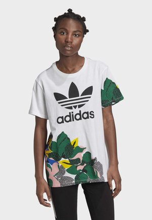 HER STUDIO LONDON LOOSE T-SHIRT - Printtipaita - white