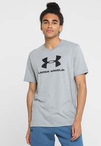 Under Armour - Camiseta estampada - steel light heather/black - 0