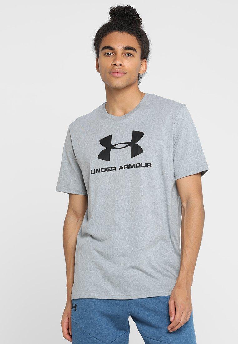 Under Armour - Camiseta estampada - steel light heather/black