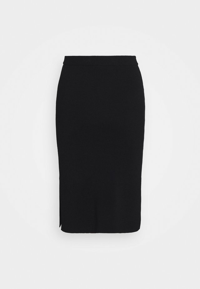 MANDY SLIT SKIRT - Kokerrok - black