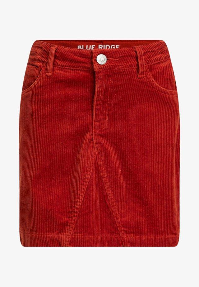 VAN CORDUROY - Minifalda - orange