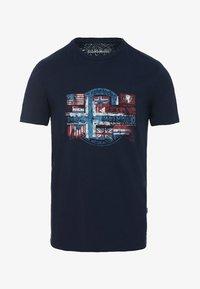 Napapijri - SEY - Print T-shirt - dark blue - 3
