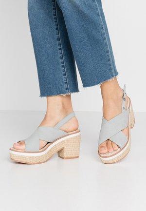 VIEQUES - Sandály na vysokém podpatku - blue