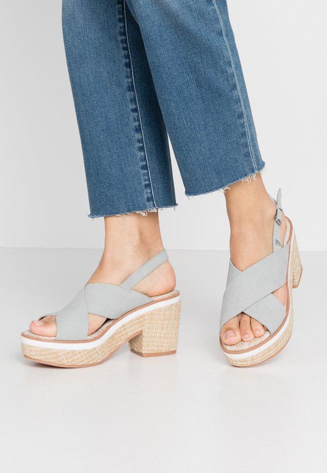 VIEQUES - High heeled sandals - blue