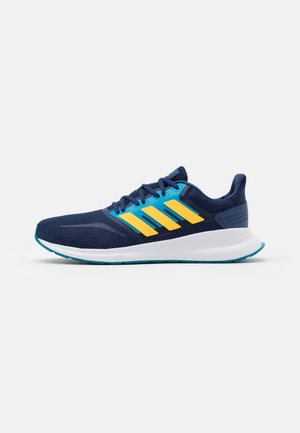 RUNFALCON - Neutral running shoes - tech indigo/solar gold/signal cyan