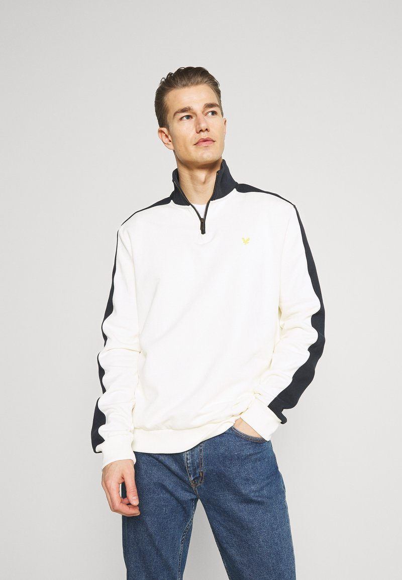 Lyle & Scott - CUT AND SEW FUNNEL NECK RELAXED FIT - Sweatshirt - vanilla ice