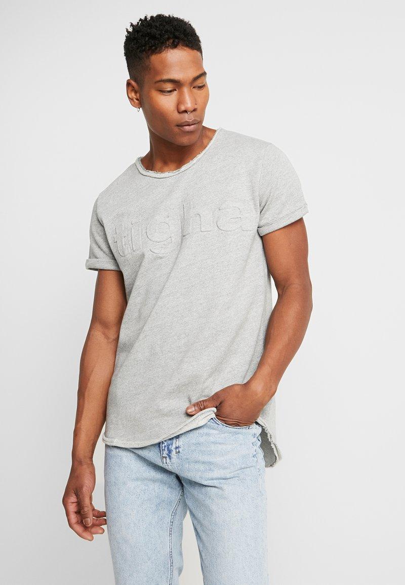 Tigha - MILO LOGO - Print T-shirt - grey melange