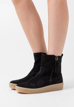 Platform ankle boots - pazifik