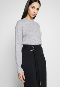 Noisy May Tall - WRAP SKIRT TALL - Pencil skirt - black - 2