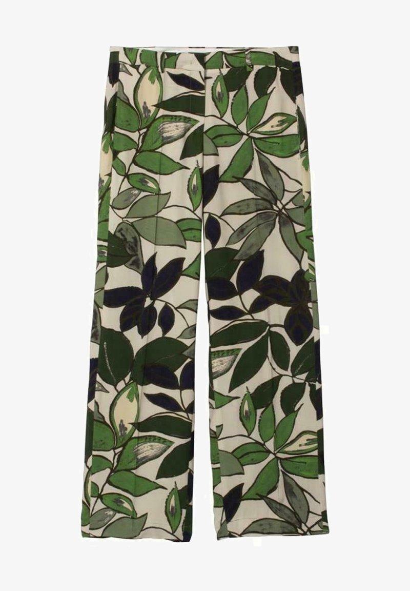 Luisa Cerano - MIT LEAF-PRINT - Trousers - multi
