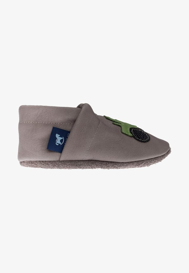 First shoes - grau / apfelgrün