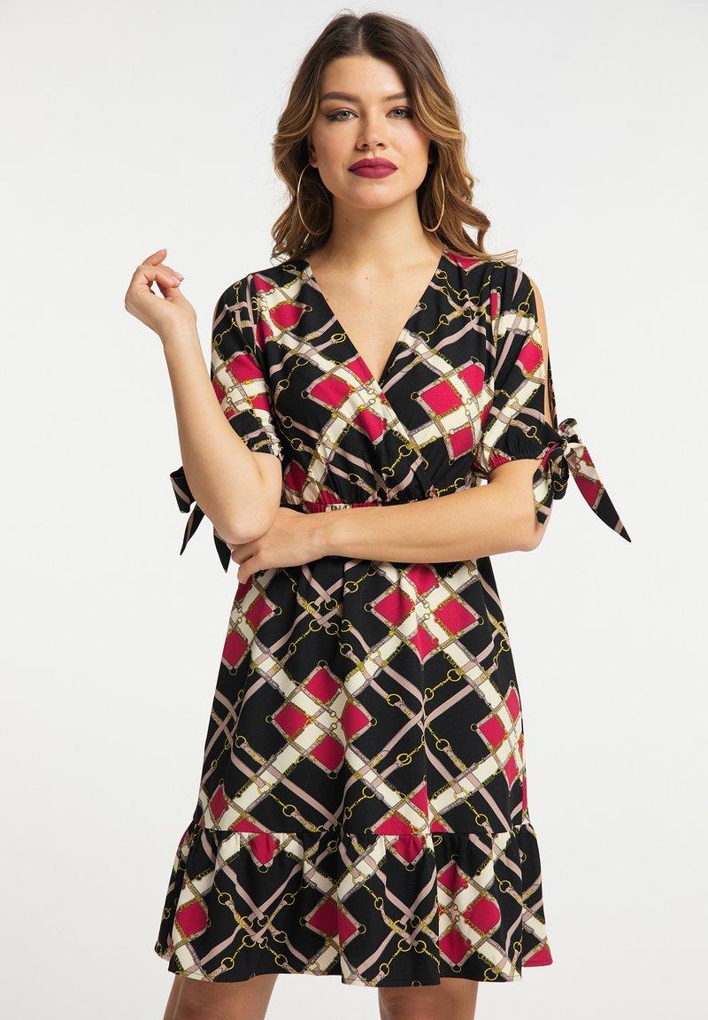 faina - Day dress - schwarz mehrfarbig