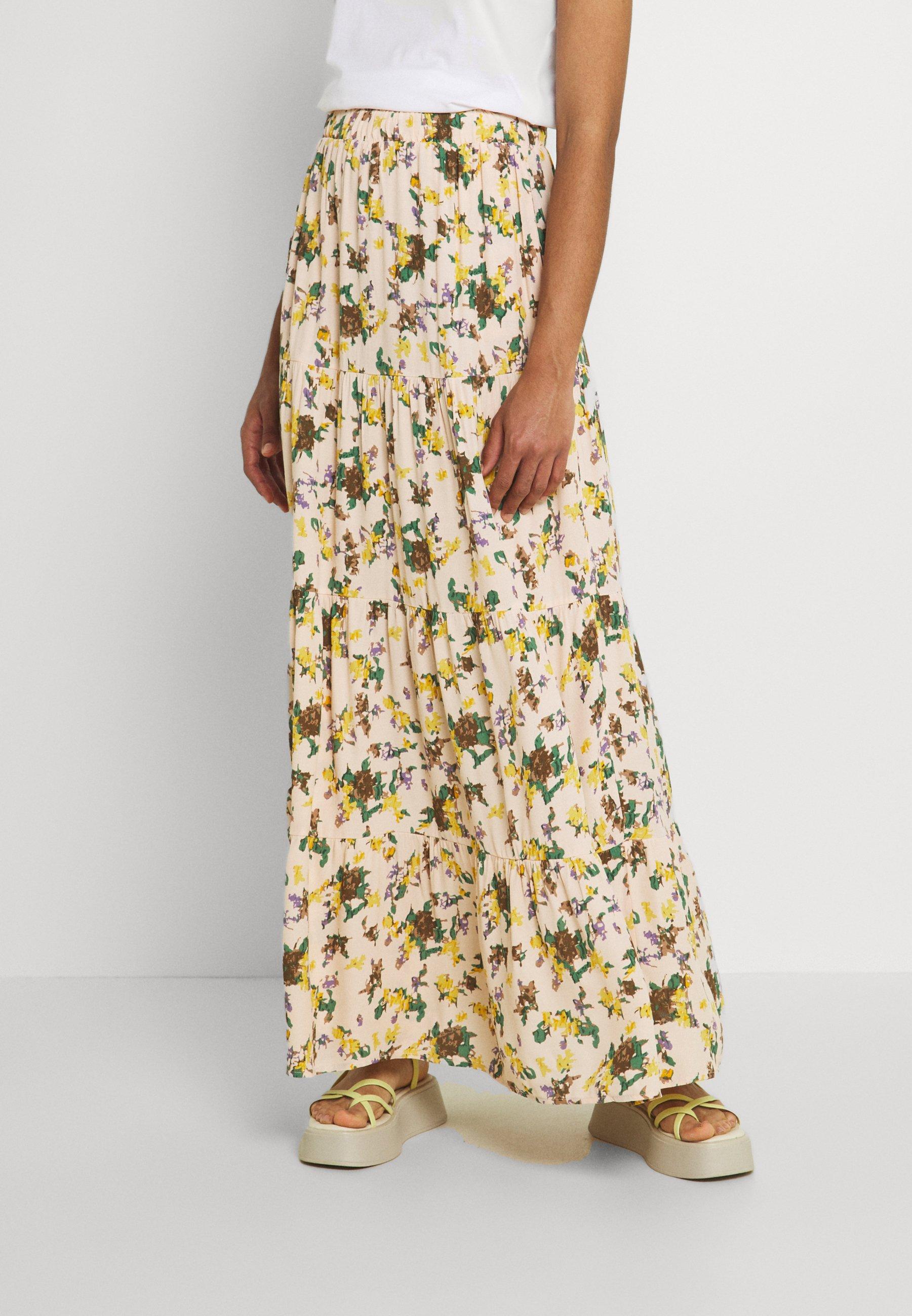 Women OBJFANNIE SKIRT - Maxi skirt