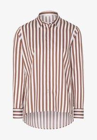 Eterna - Button-down blouse - braun weiß - 3