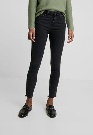 NELA - Skinny džíny - clean dark stone black / denim  grey