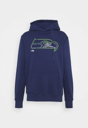 NFL SEATTLE SEAHAWKS GLOW CORE GRAPHIC HOODIE - Sweatshirt - navy