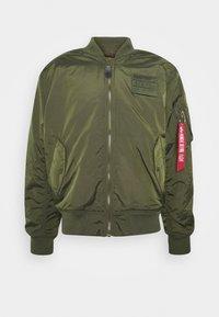 Alpha Industries - REVERSIBLE TEDDY - Bomber Jacket - dark green - 0