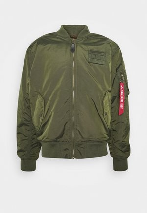 REVERSIBLE TEDDY - Bomber Jacket - dark green