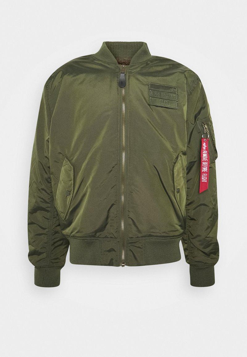 Alpha Industries - REVERSIBLE TEDDY - Bomber Jacket - dark green