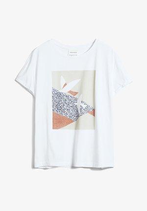 NAALIN PRIMROSE DOVES - Print T-shirt - white