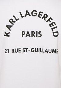 KARL LAGERFELD - ADDRESS LOGO - Sweatshirt - white - 5