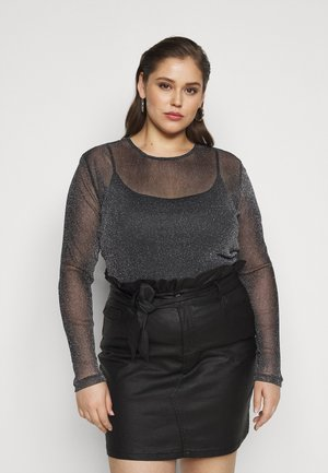NMGLAM - Long sleeved top - black/silver