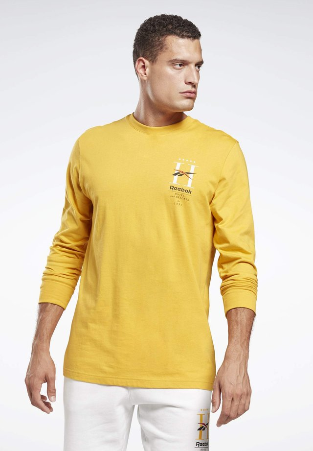 CLASSICS HOTEL LONG-SLEEVE TOP - Long sleeved top - gold