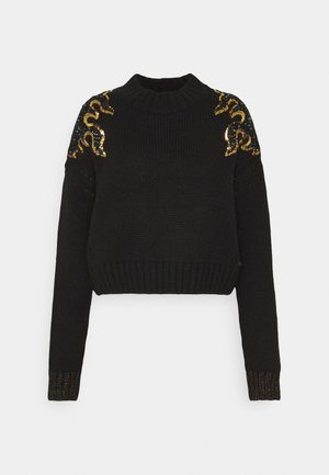 WITH FLAME PATTERN - Pullover - black
