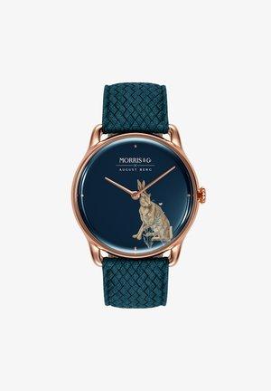 UHR MORRIS & CO ROSE GOLD INDIGO PERLON 38MM - Horloge - indigo