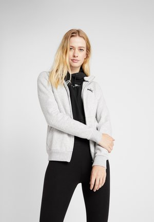 TRACK  - Zip-up hoodie - light gray heather